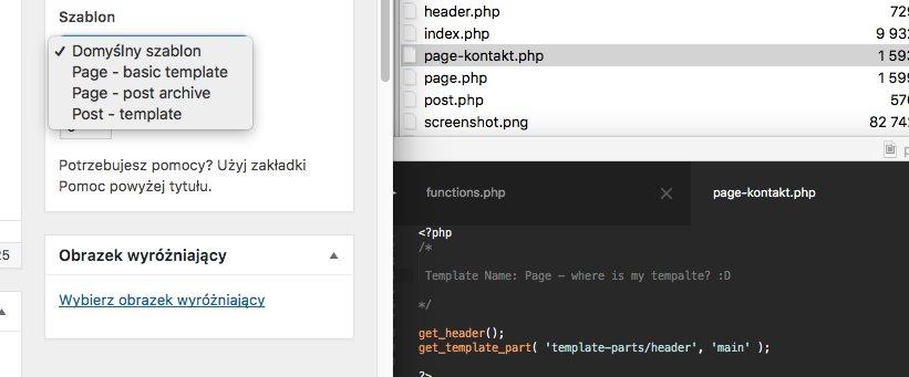 WordPress 4.9 won't detect page template